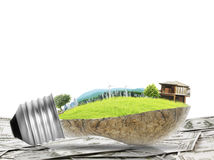 Light bulb Alternative energy concept Stock Photography