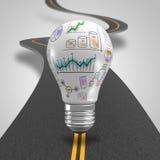 Light bulb as idea Royalty Free Stock Photos
