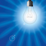 Light bulb as sun Royalty Free Stock Image
