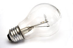 Light Bulb At White Background Stock Photography