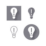 Light bulb, attention icon for user interface. Royalty Free Stock Photos