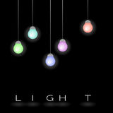 Light bulb. Available in vector Royalty Free Stock Photography