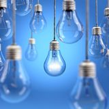 Light bulb background Royalty Free Stock Photography