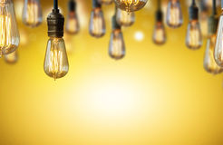 Light bulb background Stock Photography