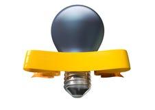 Light Bulb And Banner Stock Photos