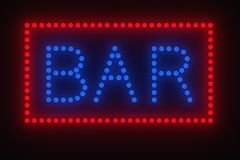 Light bulb bar sign Stock Photo