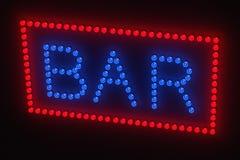 Light bulb bar sign Stock Photography