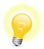 Light bulb with beams Stock Image