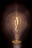 Light Bulb on Black Royalty Free Stock Photography