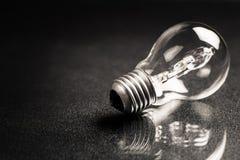 Light Bulb on Black Royalty Free Stock Photos