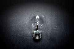 Light bulb on blackboard idea concept - background. Light bulb on blackboard idea concept idea - background Royalty Free Stock Image