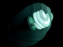 Light Bulb Blue Green Royalty Free Stock Photo