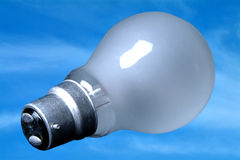 Light Bulb Blue Sky. Light bulb against blue sky Stock Photo