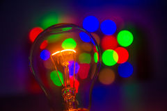 Light bulb in bokeh Royalty Free Stock Photo