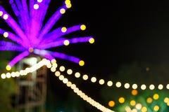 Light Bulb Bokhe. Beautiful Light Bokhe from LED bulb in festival decoration Stock Images