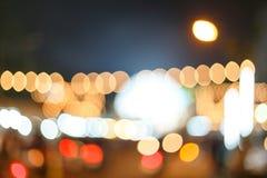 Light Bulb Bokhe. Beautiful Light Bokhe from LED bulb in festival decoration Royalty Free Stock Image