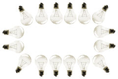 Light bulb border Stock Image