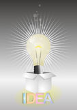 Light bulb box Stock Photo