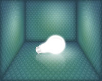 Light bulb in box Royalty Free Stock Photos