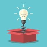 Light bulb from box Stock Photos