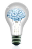 Light bulb with a brain Royalty Free Stock Photography