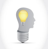 Light bulb brain. great ideas concept Stock Image