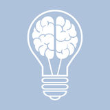 Light bulb with a brain. Vector illustration eps10 Stock Image