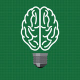 Light bulb brain in vector style Royalty Free Stock Images