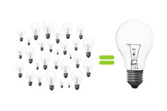 Light bulb brainstorming Stock Photo