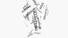 Light Bulb Brand marketing strategies online business word cloud text typography. Light Bulb Online Brand Business Marketing Strategies and Internet Shopping vector illustration