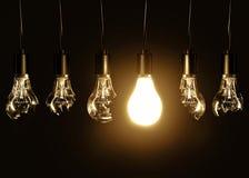 Light bulb and broken bulbs