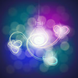 Light bulb and butterfly Royalty Free Stock Photography