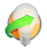 Light bulb button Royalty Free Stock Photography
