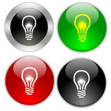 Light bulb buttons Royalty Free Stock Photography