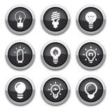 Light bulb buttons Stock Photo