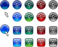 Light bulb buttons. Stock Photo