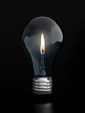 Light bulb with candle flame Royalty Free Stock Photography