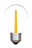 Light bulb with candle inside Royalty Free Stock Photo
