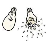 Light bulb cartoon Stock Photos