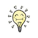 Light bulb cartoon character Stock Photo