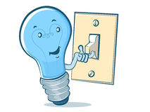 Light Bulb Cartoon Royalty Free Stock Photography