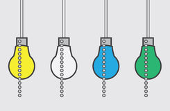 Light Bulb Chain Colors Royalty Free Stock Image