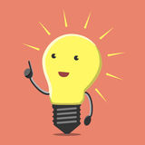 Light bulb character, insight Stock Photos