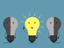 Light bulb characters Stock Photography
