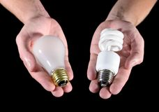 Light Bulb Choice Stock Images