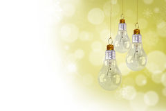 Light bulb christmas decoration Stock Photography