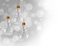 Light bulb christmas decoration Royalty Free Stock Photo