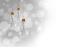 Light bulb christmas decoration Royalty Free Stock Photos