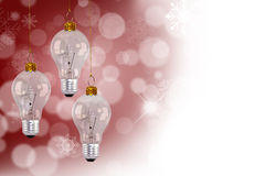 Light bulb christmas decoration Stock Photos