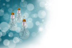 Light bulb christmas decoration Stock Image